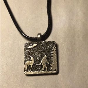 Bigfoot Unicorn UFO pendant necklace